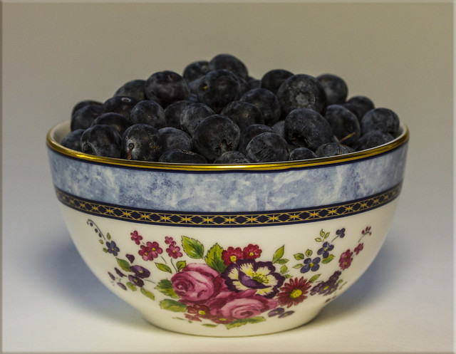 Food Photography #2 - Bowl of Blueberries