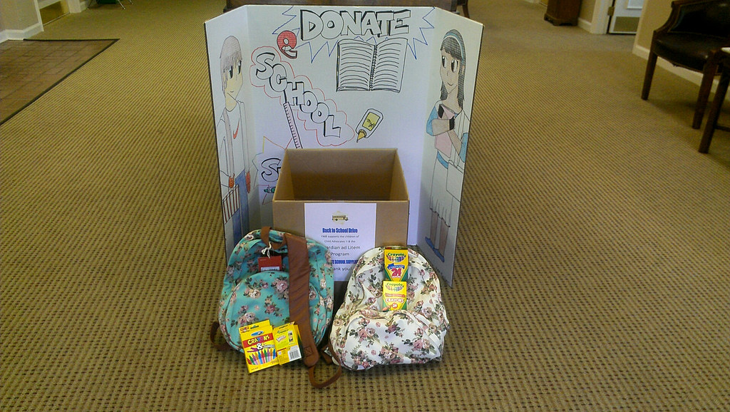 Results of our 2013 School Supply Drive at a Farmers and M