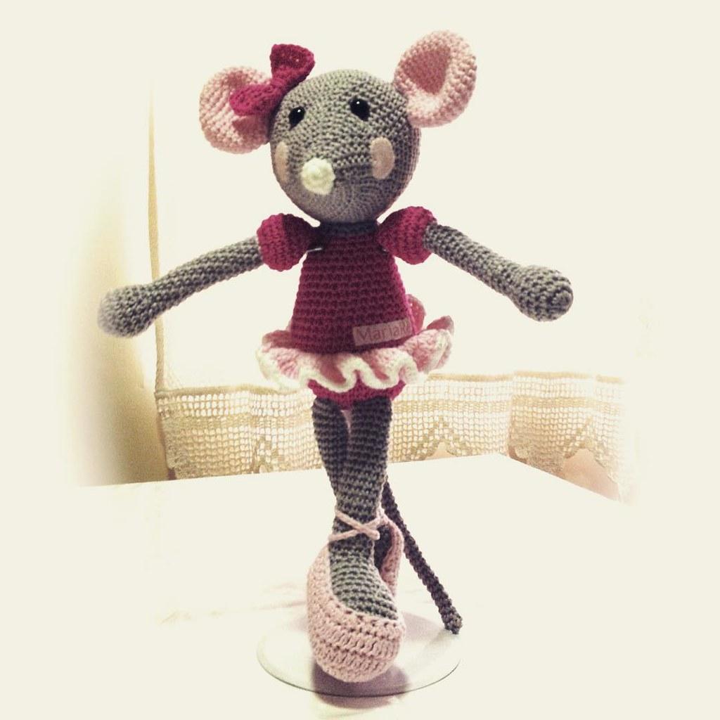 Crochet - Toys - Stuffed Toys - Ballerina Mouse - Crochet Mouse ... | 1024x1024