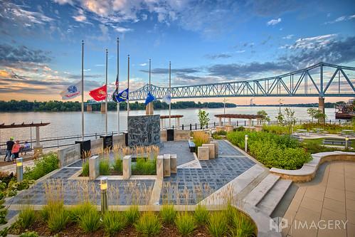 bridge sunset downtown day elevated owensboro bluebridge smotherspark sheltonmemorial glovercary