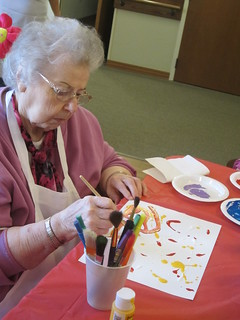 Painting with Seniors - Annabelle | by Pictures by Ann