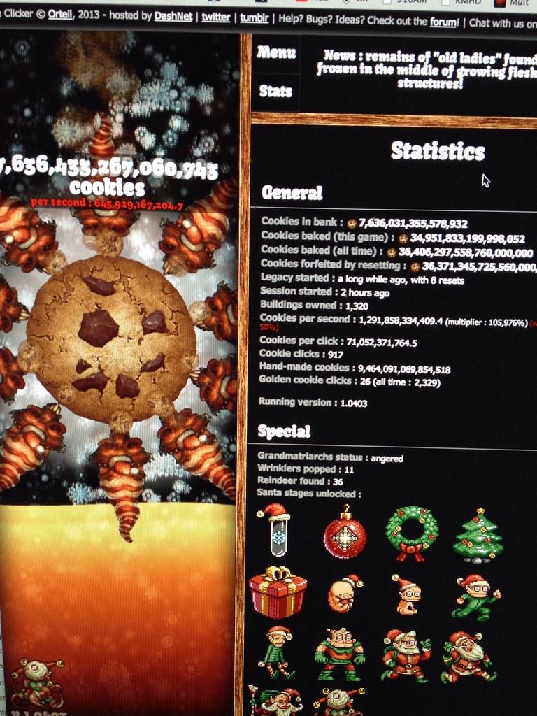 Merry Xmas From Cookie Clicker Still Savin Up To Unlock F Flickr