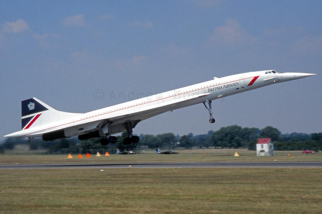 BA Concorde G-BOAB at RIAT 1996