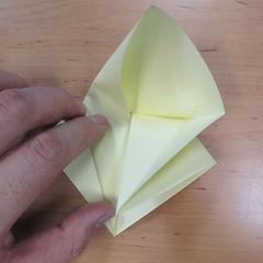 วิธีพับกระดาษเป็นดอกกุหลายแบบเกลียว 010