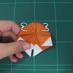 การพับกระดาษเป็นที่คั่นหนังสือหมีแว่น (Spectacled Bear Origami)  โดย Diego Quevedo 025