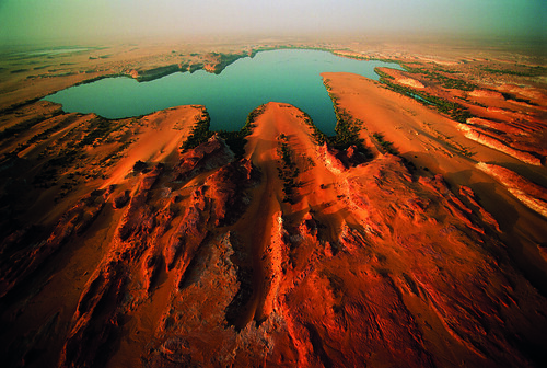 africa lake water outdoors chad aerialview nobody landforms naturalworld viewfromabove centralafrica borkouenneditibestiregion ouniangakebir