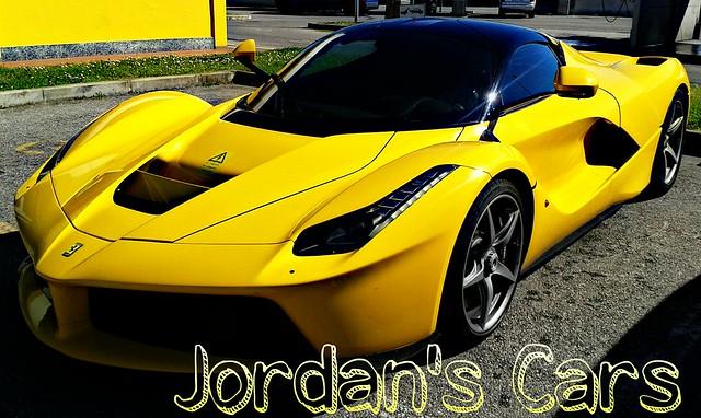 Ferrari Laferrari yellow
