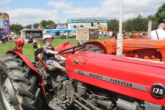 Xander on a tractor