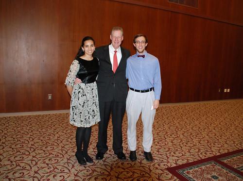 2012 Endowment Dinner (l to r): Brinda Monian, Frank Culberson, Andrew Santos