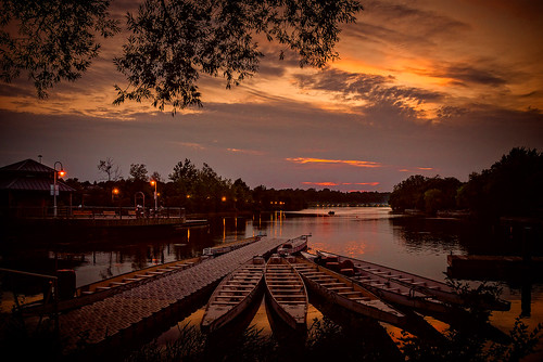 dragonboat boat water waterfront hamilton ontario canada sunset evening harbour harbor cloud dock port dark