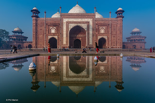 Taj Mahal mosque reflected in pool | by Phil Marion (176 million views - THANKS)