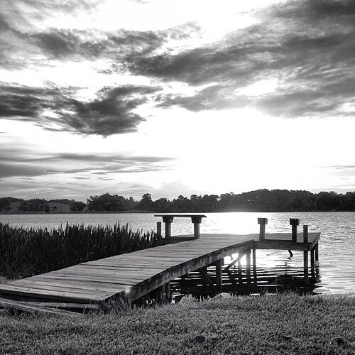 sunset blackandwhite bw lake nature square florida squareformat fav10 iphoneography instagramapp