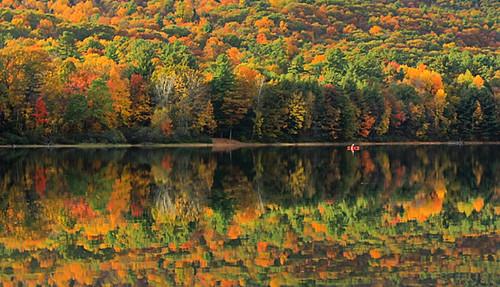 park county new york lake fall leaves reflections state saratoga upstate adirondacks moreau
