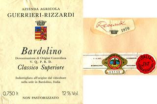Italy - Bardolino Guerrieri-Rizzardi 1979