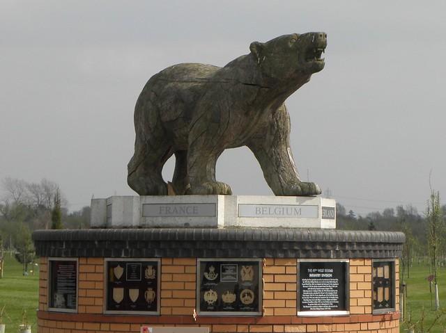 The Polar Bear Memorial at the National Memorial Arboretum