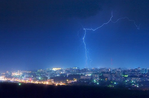 Lightning in Ufa | by Sabitov