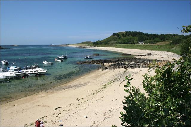 Herm harbour beach