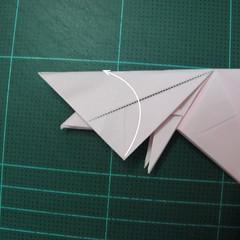 การพับกระดาษเป็นไดโนเสาร์ทีเร็กซ์ (Origami Tyrannosaurus Rex) 029