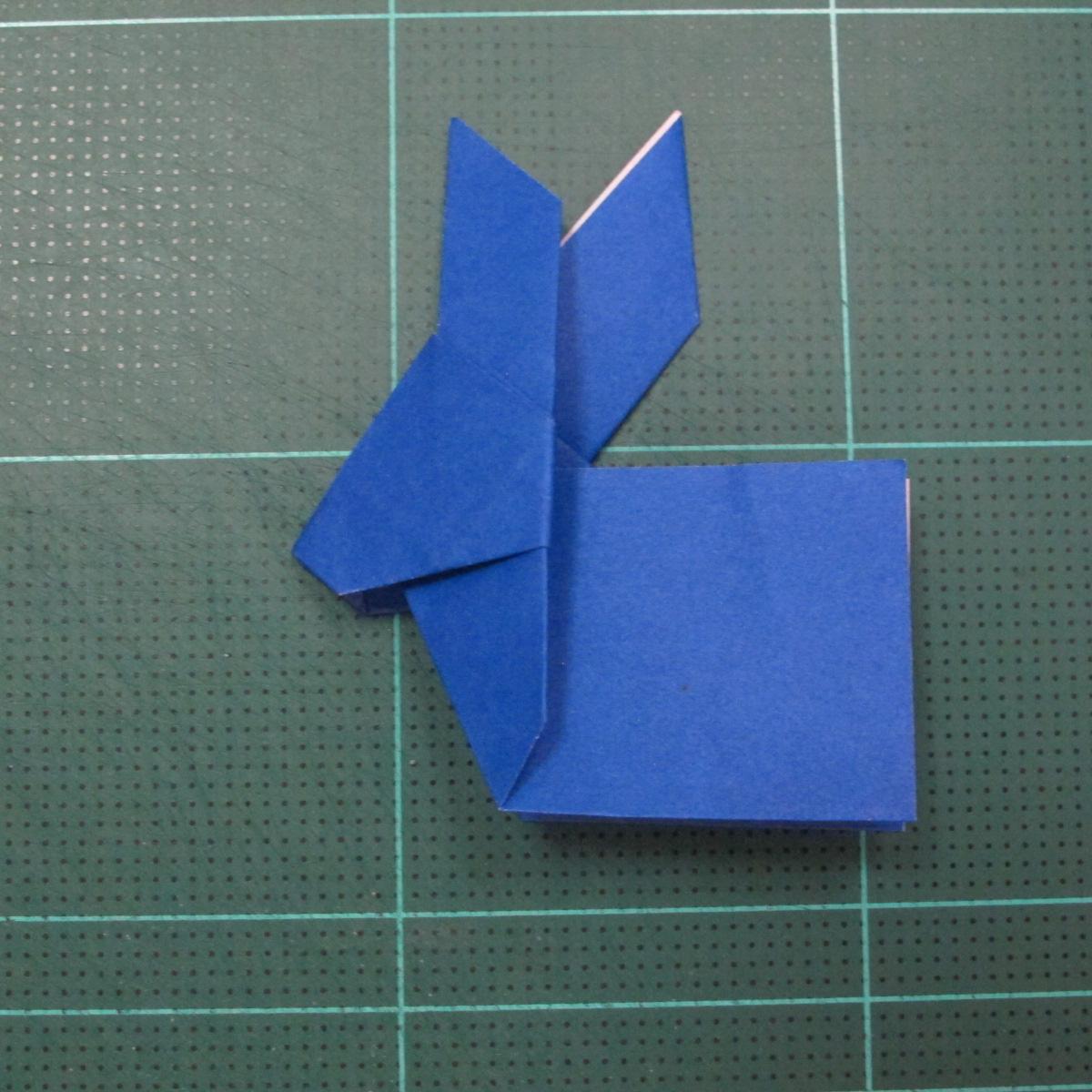 วิธีการพับกระดาษเป็นรูปกระต่าย แบบของเอ็ดวิน คอรี่ (Origami Rabbit)  021