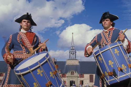 Drummers at Fortress of Louisbourg National Historic Site