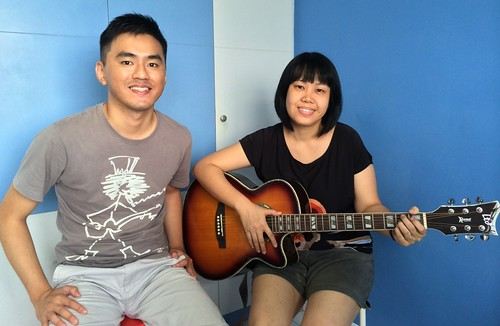 Adult guitar lessons Singapore Jeslyn