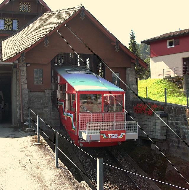 Treib Seelisberg Bahn Bergstation Schweiz