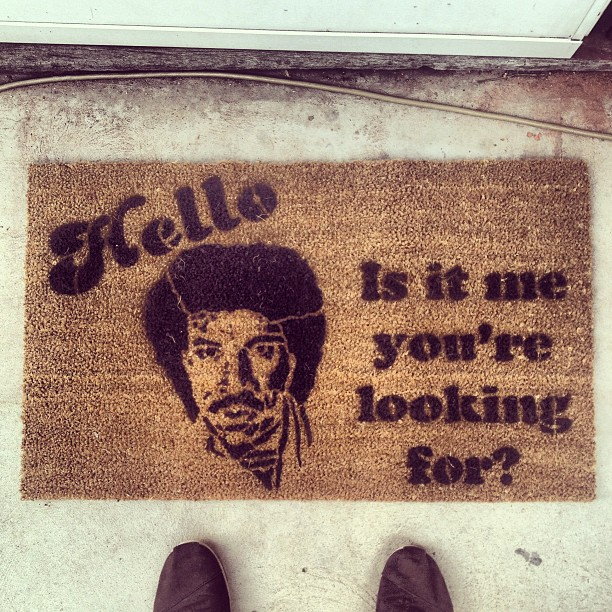YES. My new doormat just arrived, which happens to be the best doormat ever.