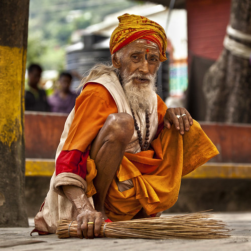 "nepal portrait man kathmandu sadhu budhanilkantha sweaper ""flickraward"""