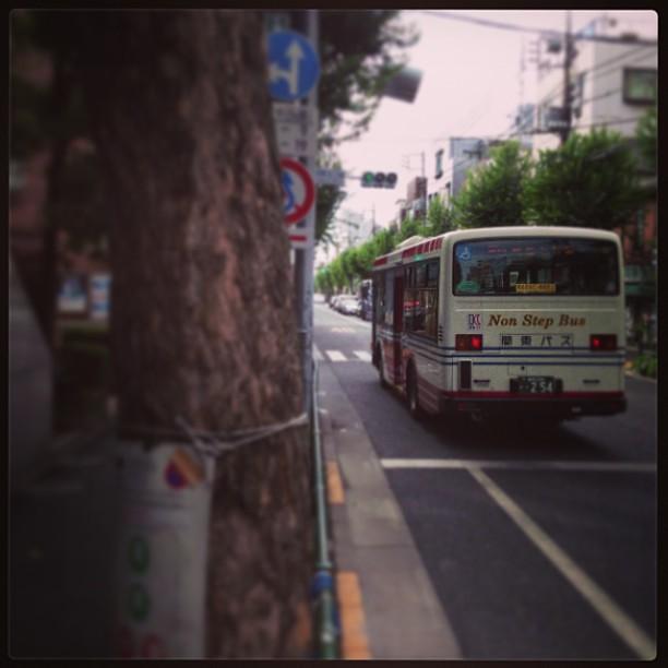 高円寺某所なう。バスの運ちゃんかなり気合いの入った運転でした。~_ ...
