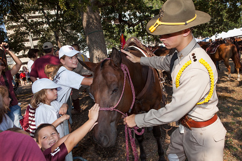 Parsons Mounted Cavalry with kids