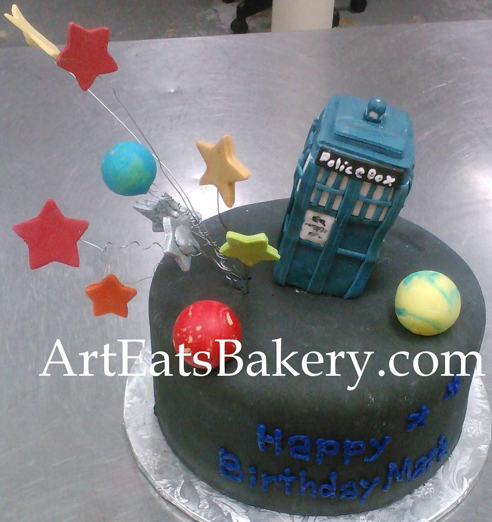 Astounding Doctor Who 3D Tartis Custom Fondant Birthday Cake With Stars And Funny Birthday Cards Online Alyptdamsfinfo