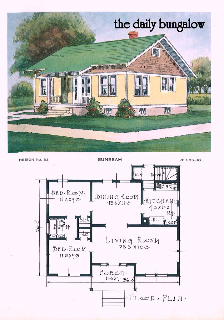 1920 Building Service House Plans | The Sunbeam | Daily ...