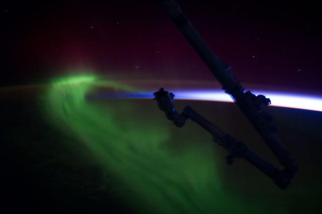 Aurora Australis Over Tasmania (NASA, International Space Station, 10/30/13)