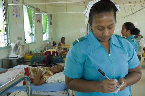 Trainee nurse Tekanrati Tito at South Tarawa Hospital, Kiribati 2007. Photo: Lorrie Graham | by DFAT photo library