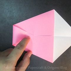 สอนวิธีการพับกระดาษเป็นรูปเป็ด (Origami Duck) - 010.jpg