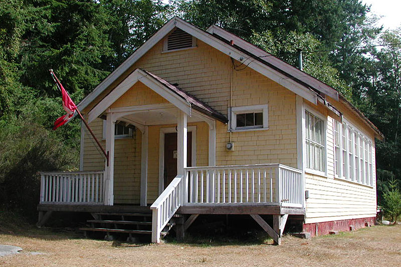 Old Schoolhouse, now an Art Gallery, Cortes Island, Discovery Islands, British Columbia, Canada