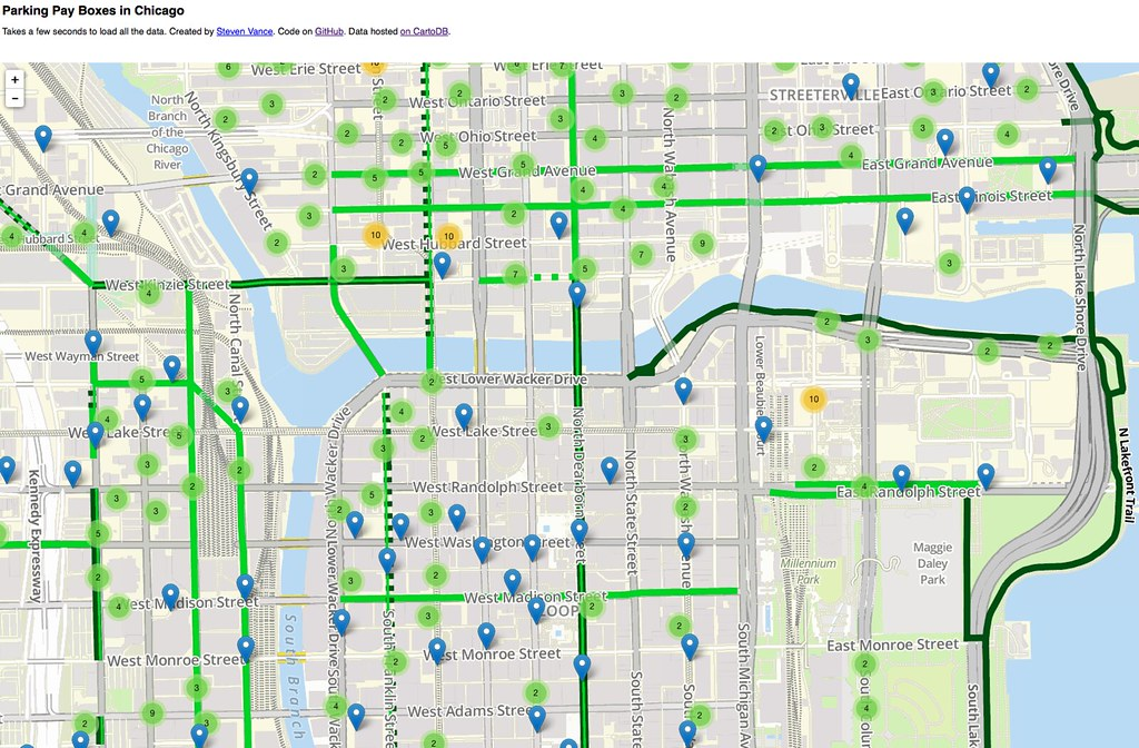Chicago Street Parking Map on