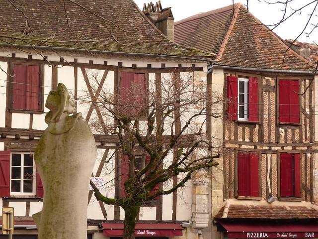 Plaza en Bergerac (Périgord, Francia)