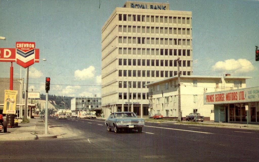 Postcard: Royal Bank Building, Prince George, BC, c.1970 - Flickr