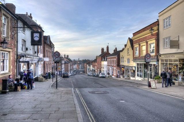 Late afternoon in Ludlow, Shropshire