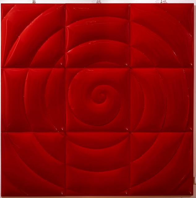 2009 - Ritratti di geometrie e giochi d'aria, a cura di Cerritelli, personale alla Galleria Morone, Milano