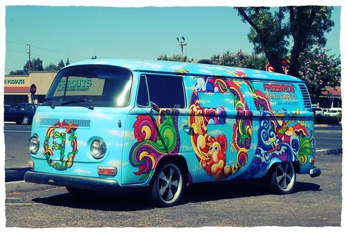 freebirds volkswagen bus  modesto california promoting flickr
