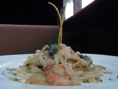 Fettuccine Carbonara @ Chamomile Tea House & Bistro