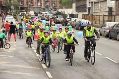 Imagen del grupo llegando al Colegio San Lorenzo