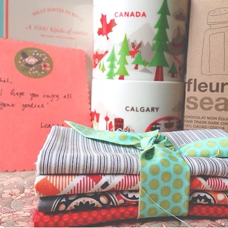 """dear @leannenwcohen, WHAT?! you just """"get"""" me! thank you, thank you, thank you for the very BEST #urhereswap package! i mean it. i'm SO darn excited to add oh, canada mugs to my collection!  also, our instant best friends status is totally in effect. ;) x"""