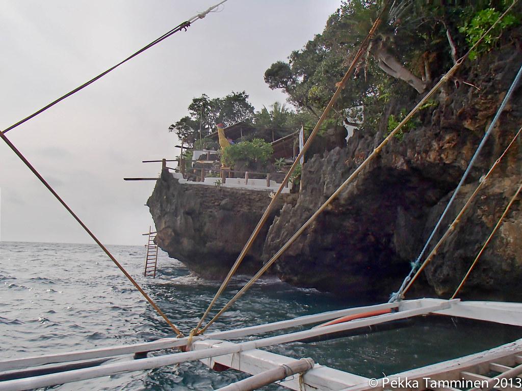Resort on a rocky edge