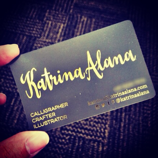 So happy at how my business cards turned out  The fancy go… | Flickr