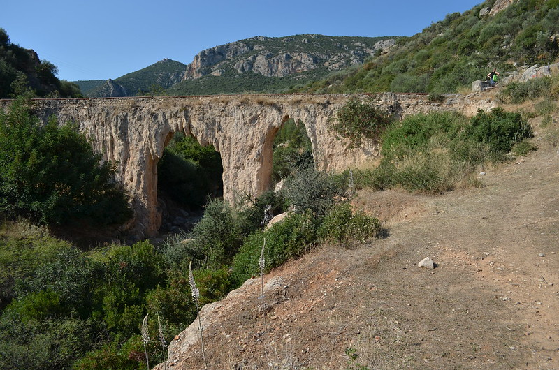 Loukou: Roman aqueduct bridge 2, looking SW