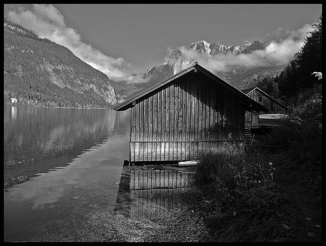 ALTAUSSEE . BOATHOUSES