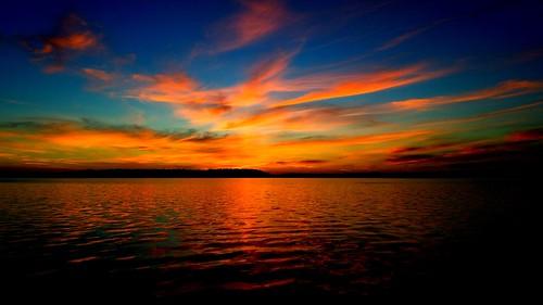 sunset skyporn galaxys7 pensacola water clouds cloudporn noedit